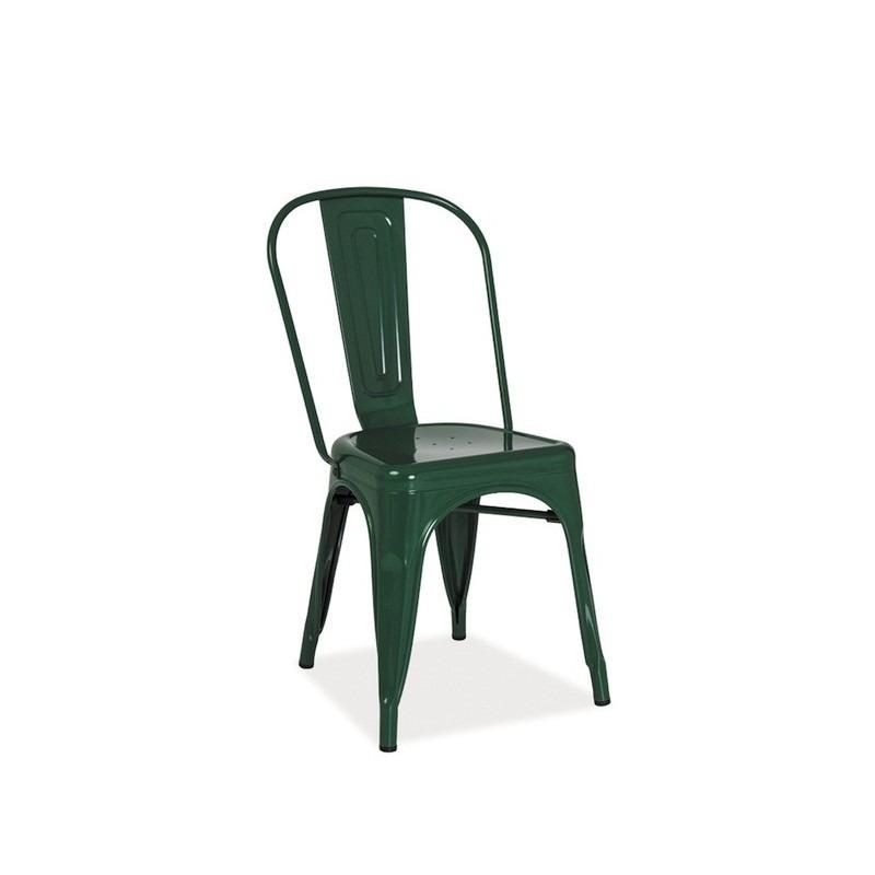 Scaun-din-metal-Loft-verde-inchis