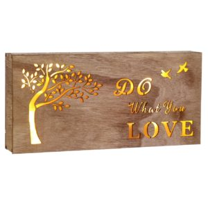 Caseta luminoasa Do What You Love - 29x14cm