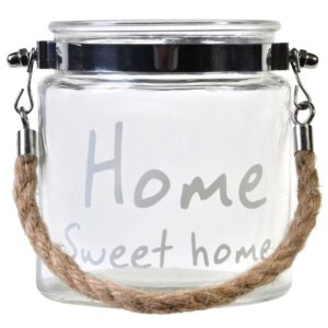 Suport lumanare Home Sweet Home - 10x12cm