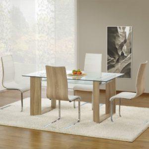 Set-masa-din-sticla-Herbert-4-scaune-K104