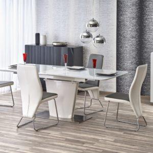Set-masa-din-MDF-si-sticla-Platon-4-scaune-K299-White-Grey