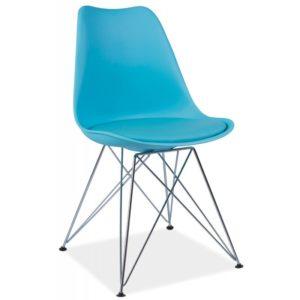 scaun-din-metal-tapitat-tim-albastru