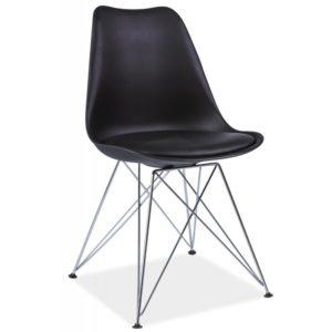 scaun-din-metal-tapitat-tim-negru