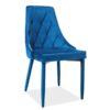 Scaun-tapitat-Trix-Velvet-albastru-H-88-cm
