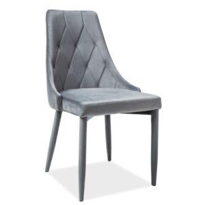 Scaun-tapitat-Trix-Velvet-gri-H-88-cm