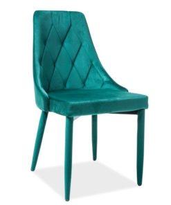 Scaun-tapitat-Trix-Velvet-verde-H-88-cm