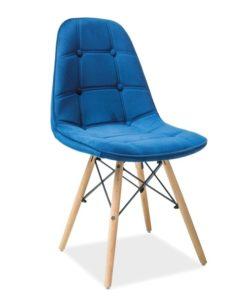 Scaun-din-lemn-tapitat-Axel-III-catifea-albastru