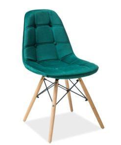 Scaun-din-lemn-tapitat-Axel-III-catifea-verde