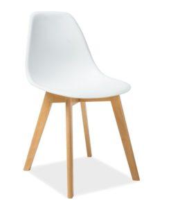 Scaun-din-plastic-si-lemn-Moris-Alb-H-85-cm-