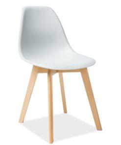 Scaun-din-plastic-si-lemn-Moris-Gri-deschis-H-85-cm