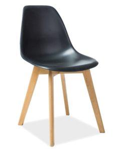Scaun-din-plastic-si-lemn-Moris-Negru-H-85-cm