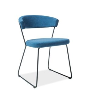 Scaun-tapitat-Helix-albastru