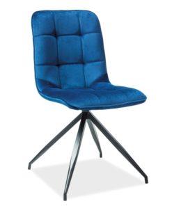 Scaun-tapitat-Texo-catifea-albastru