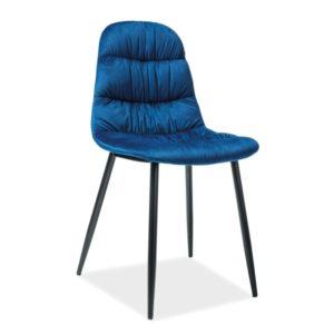 Scaun-catifea-Vedis-albastru-H-87-cm