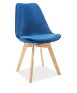 scaun-catifea-dior-albastru