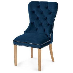 Scaun-tapitat-Madame-II-Gold-Stejar-albastru