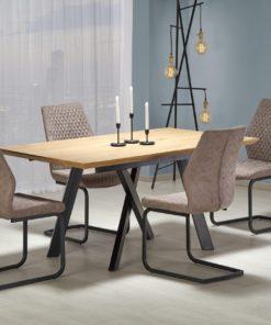 Set-masa-MDF-Capital-4-scaune-K272-Dark-Beige-2