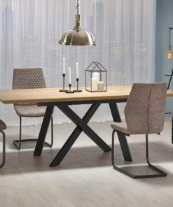 Set-masa-MDF-Capital-4-scaune-K272-Dark-Beige