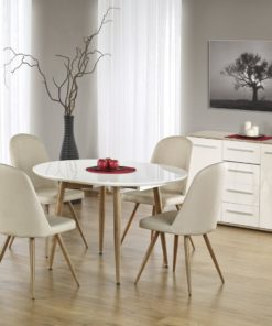 Set-masa-MDF-Edward-White-Honey-oak-6-scaune-K214-1