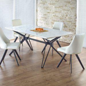 Set-masa-din-MDF-Pascal-White-4-scaune-K206
