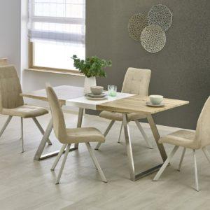 Set-masa-din-MDF-Trevor-4-scaune-K241-Beige