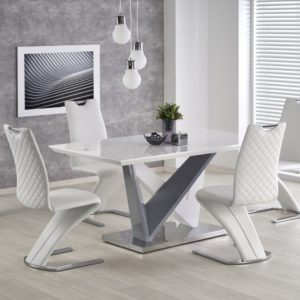 Set-masa-din-MDF-si-metal-Cortez-4-scaune-K291-White