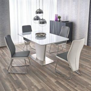 Set-masa-din-MDF-si-sticla-Platon-4-scaune-K299-White-Grey-1