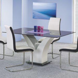 Set-masa-din-MDF-si-sticla-Vesper-4-scaune-K132