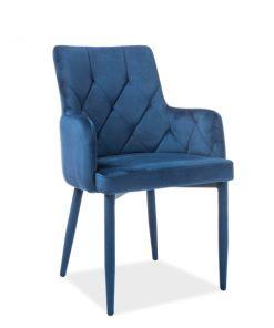 Scaun catifea Ricardo albastru