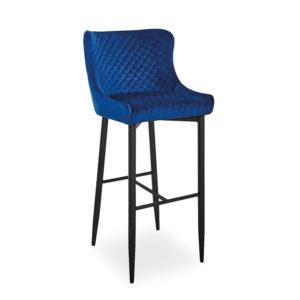 scaun-bar-catifea-colin-b-albastru