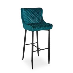 scaun-bar-catifea-colin-b-verde