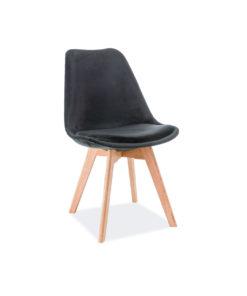 scaun-catifea-dior-negru-stejar