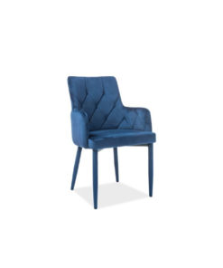 scaun-catifea-ricardo-albastru