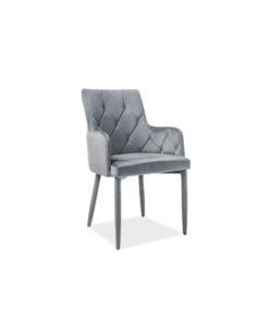 scaun-catifea-ricardo-gri