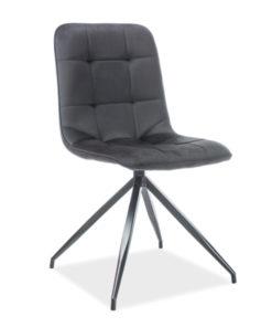 scaun-catifea-texo-negru