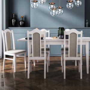 Set Masa Artus Furnir natural cu 4 scaune S16