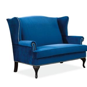 Canapea tapitata Benjamin 2 Velvet Albastru