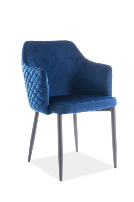 Scaun Astor Velvet Bleumarin