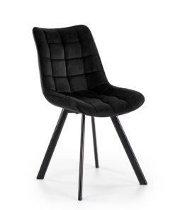 Scaun K332 velvet negru 3