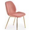 Scaun K381 material catifea roz