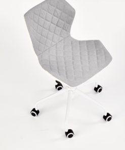 scaun de birou copii Matrix III alb gri 2