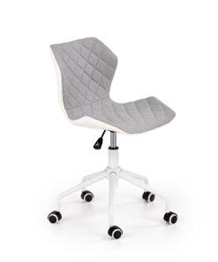scaun de birou copii Matrix III alb gri