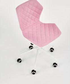 scaun de birou copii Matrix III alb roz 2