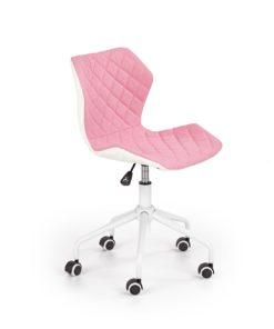 scaun de birou copii Matrix III alb roz