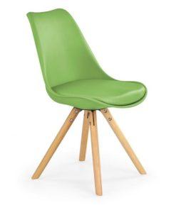 Scaun K201 piele ecologica verde