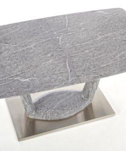 Masa extensibila Artemon marmura gri - L160:220xl90xh76 cm