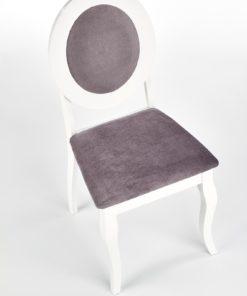 Scaun Barock material gri alb 4