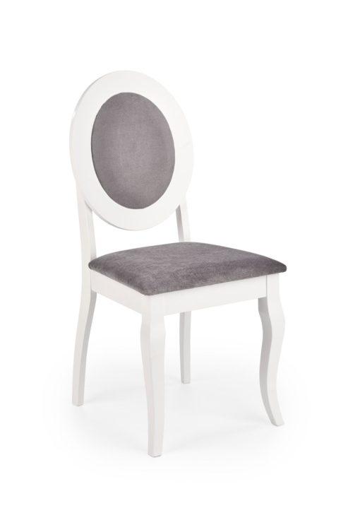 Scaun Barock material gri alb