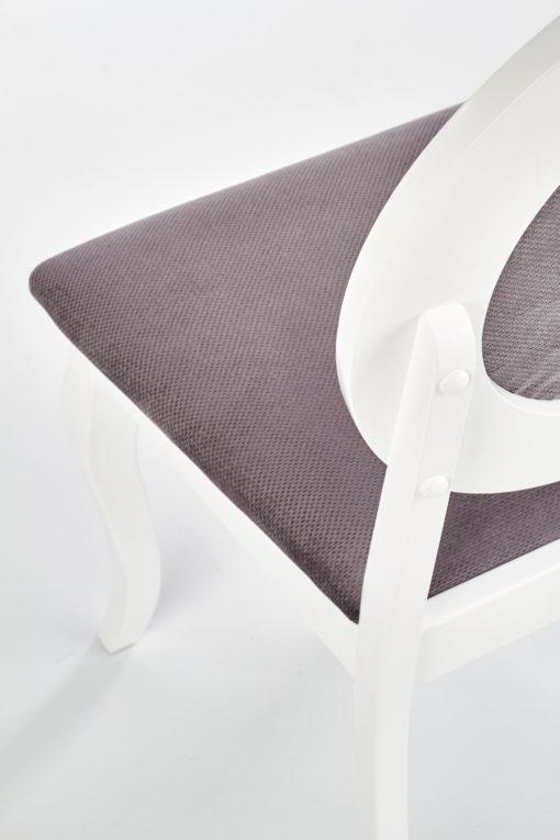 Scaun Barock material gri alb 6