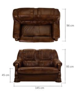 Canapea cu piele 2 locuri Parma